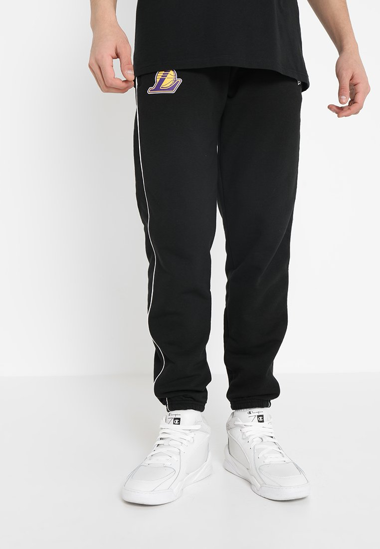 New Era - NBA LA LAKERS PIPING JOGGER - Vereinsmannschaften - black