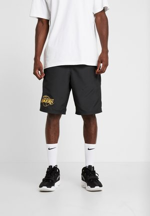 NBA LA LAKERS ESTABLISHED DATE SHORT - kurze Sporthose - black