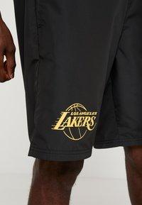 New Era - NBA LA LAKERS ESTABLISHED DATE SHORT - Korte broeken - black - 3