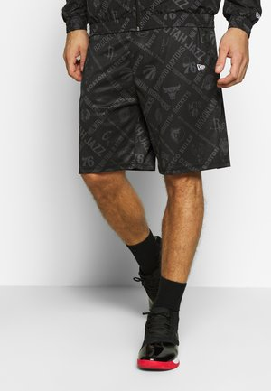 NBA SHORT NBA LOGO - Sports shorts - black