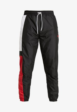 COLOUR BLOCK TRACK PANT - Verryttelyhousut - black/optic white/front door red