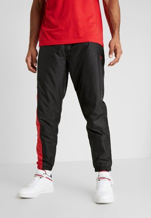 COLOUR BLOCK TRACK PANT - Spodnie treningowe - black/optic white/front door red
