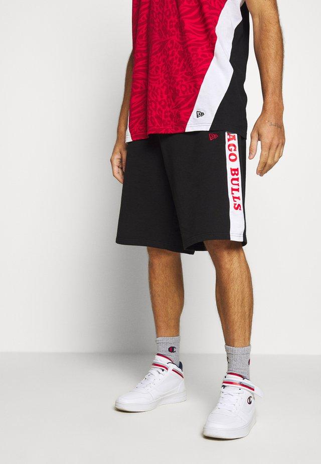 NBA CONTRAST SHORT CHICAGO BULLS - Träningsshorts - black