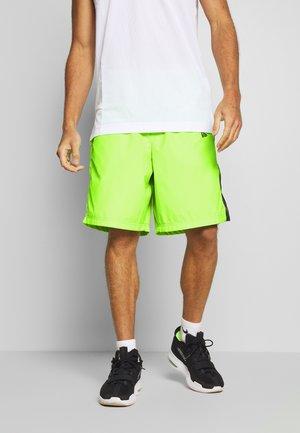 SIDE PRINT - Sportovní kraťasy - neon green