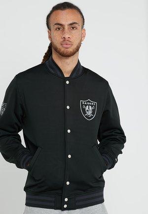 NFL OAKLAND RAIDERS VARSITY JACKET - Artykuły klubowe - black