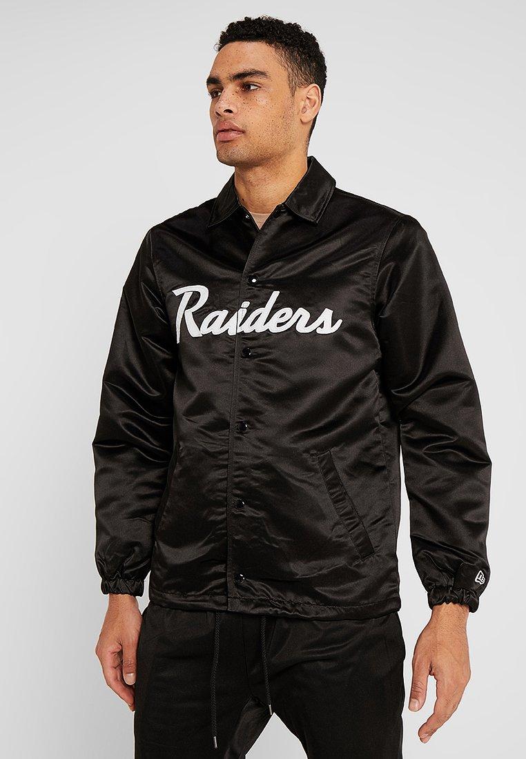 New Era - NFL OAKLAND RAIDERS COACH JACKET - Club wear - black