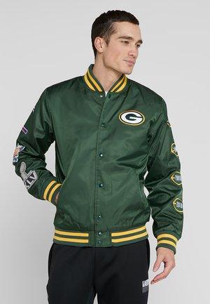 NFL GREEN BAY PACKER CHAMPION BOMBER JACKET - Club wear - green/gold