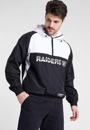 NFL OAKLAND RAIDERS COLOUR BLOCK  - Veste coupe-vent - black