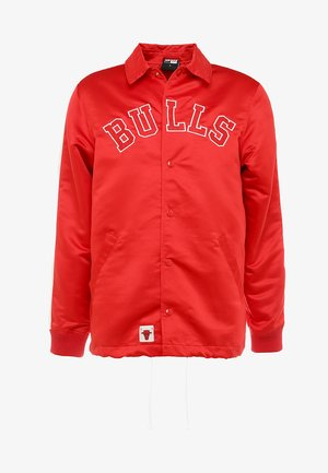 NBA CHICAGO BULLS WORDMARK COACHES JACKET - Vereinsmannschaften - front door red