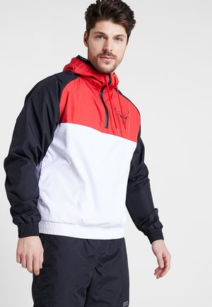 NBA CHICAGO BULLS HOODED  - Windbreaker - white/black/front red