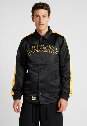 NBA LA LAKERS WORDMARK COACHES JACKET - Kurtka sportowa - black