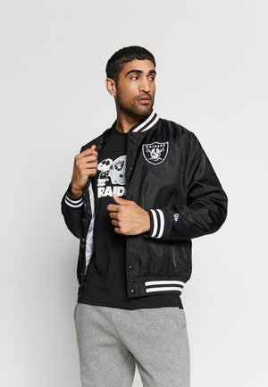 NFL OAKLAND RAIDERS TEAM BOMBER - Club wear - black
