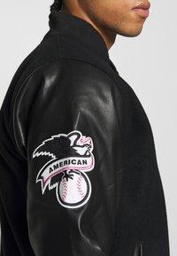 New Era - MLB HERITAGE VARSITY JACKET NEW YORK - Article de supporter - black - 5
