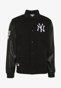 New Era - MLB HERITAGE VARSITY JACKET NEW YORK - Article de supporter - black - 4