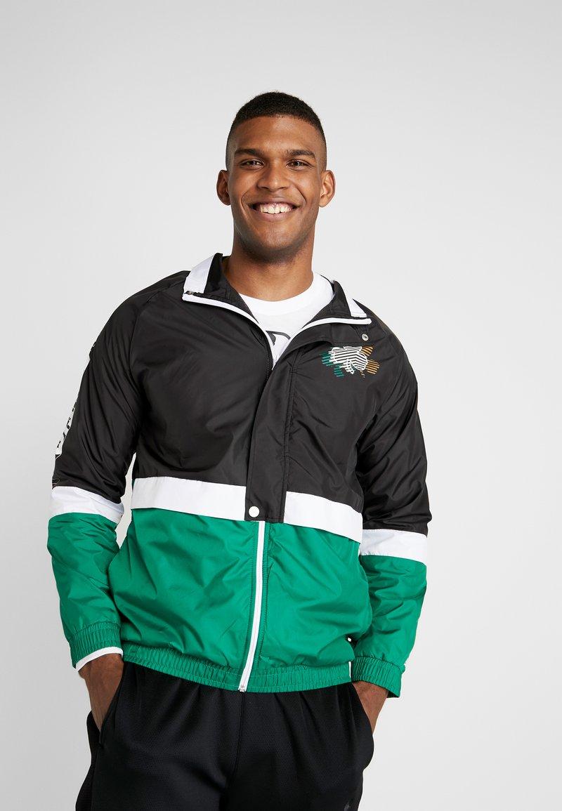 New Era - NBA COLOUR BLOCK TRACK JACKET BOSTON CELTICS - Chaqueta de entrenamiento - black/green