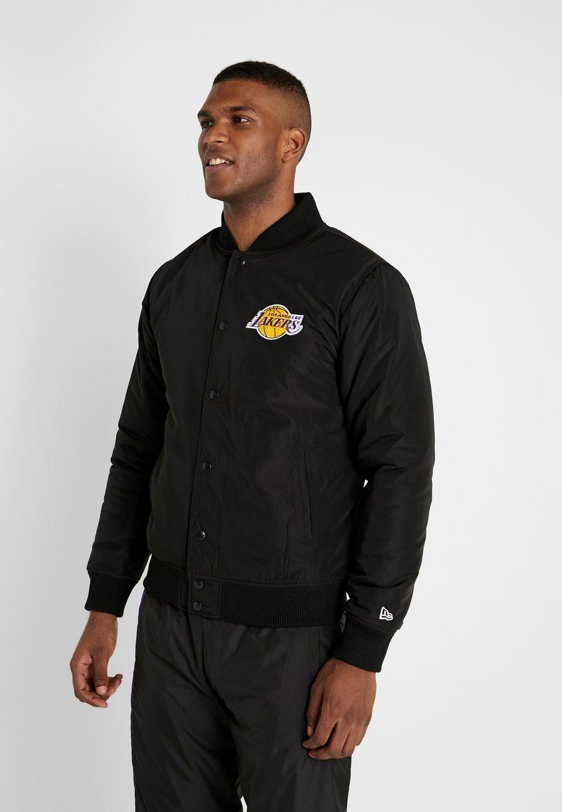 New Era - NBA TEAM LOGO JACKET LOS ANGELES LAKERS - Verryttelytakki - black