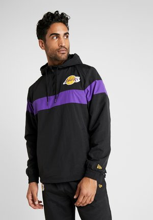 NBA WINDBREAKER LOS ANGELES LAKERS - Kurtka sportowa - black/true purple