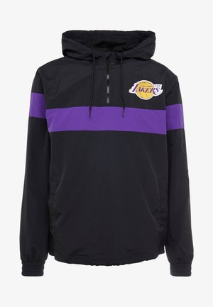 NBA WINDBREAKER LOS ANGELES LAKERS - Sportovní bunda - black/true purple