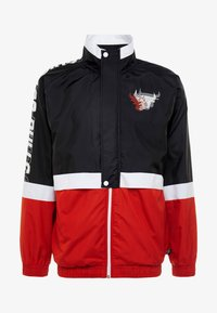 New Era - NBA COLOUR BLOCK TRACK JACKET CHICAGO BULLS - Club wear - black/front door red/optic white - 5