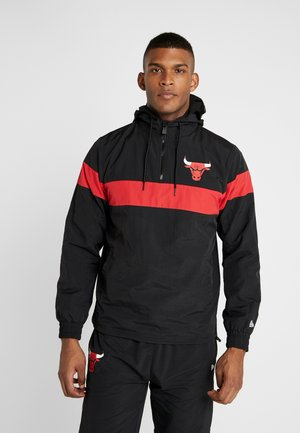 NBA WINDBREAKER CHICAGO BULLS - Club wear - black/front door red