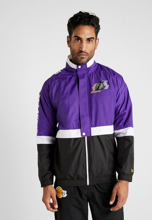NBA COLOUR BLOCK TRACK JACKET LOS ANGELES LAKERS - Club wear - true purple/black/optic white