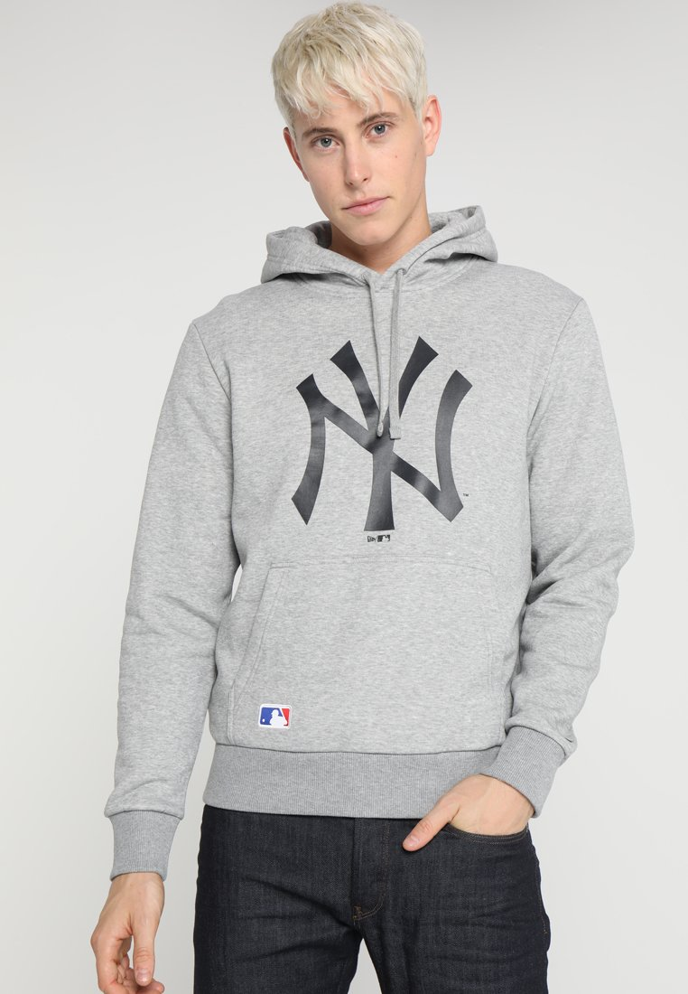 New Era - MLB TEAM LOGO HOODIE - Hoodie - light grey heather/black