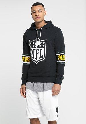 NFL BADGE HOODY - Klubbkläder - black