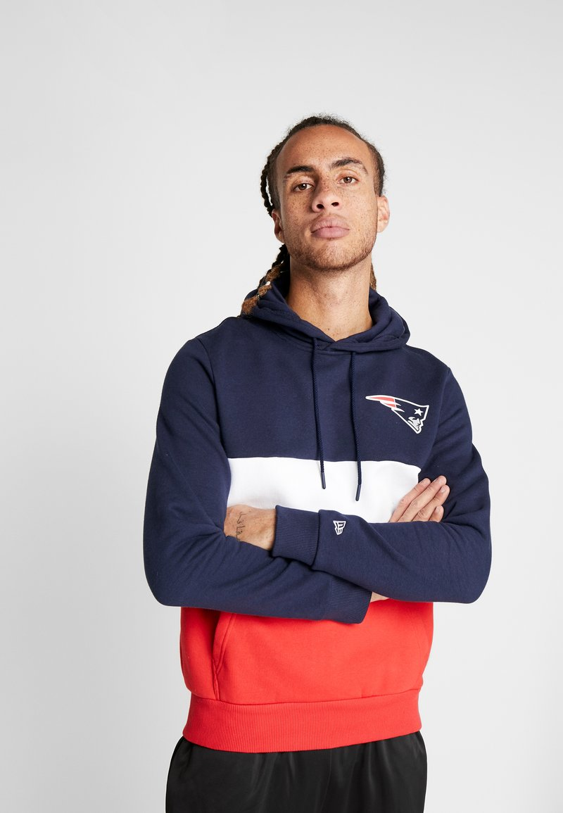 New Era - NFL COLOUR BLOCK HOODY NEW ENGLAN PATRIOTS - Hoodie - navy