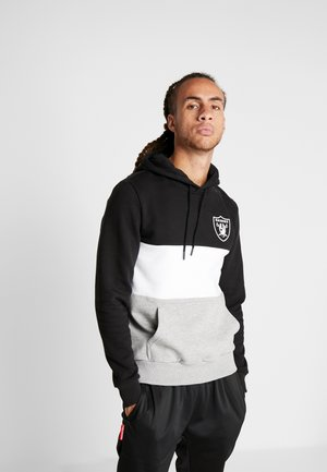 COLOUR BLOCK HOODY OAKLAND RAIDERS - Huppari - black