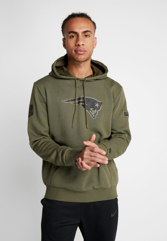 NFL NEW ENGLAND PATRIOTS CAMO COLLECTION HOODY - Bluza z kapturem - mottled olive/khaki