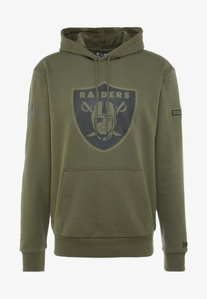 NFL OAKLAND RAIDERS CAMO COLLECTION HOODY - Mikina s kapucí - mottled olive/khaki