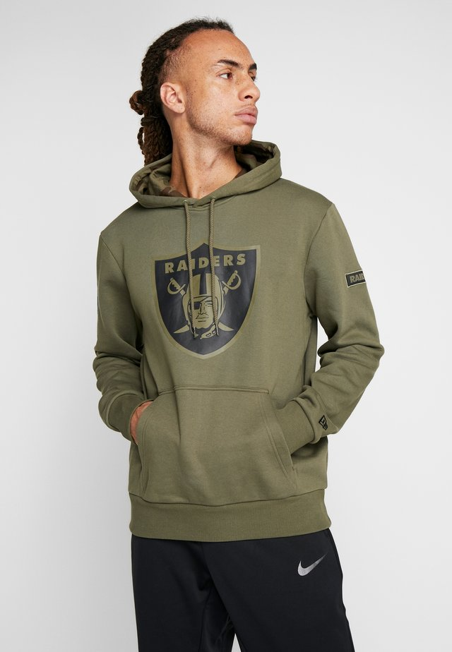 NFL OAKLAND RAIDERS CAMO COLLECTION HOODY - Bluza z kapturem - mottled olive/khaki
