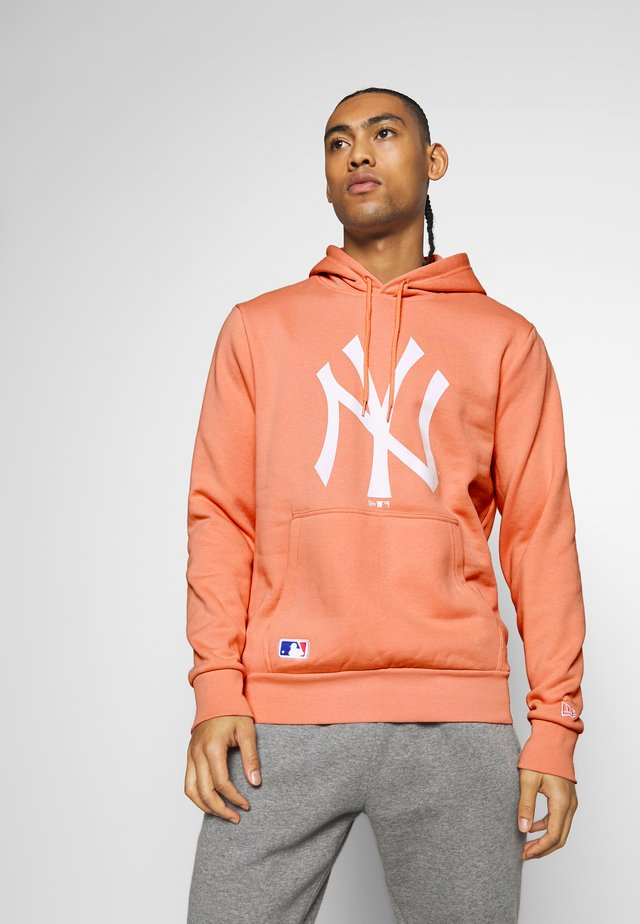 MLB SEASONAL TEAM LOGO HOODY NEW YORK YANKEES - Sweat à capuche - light pink