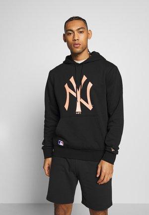 MLB SEASONAL TEAM LOGO HOODY NEW YORK YANKEES - Club wear - black