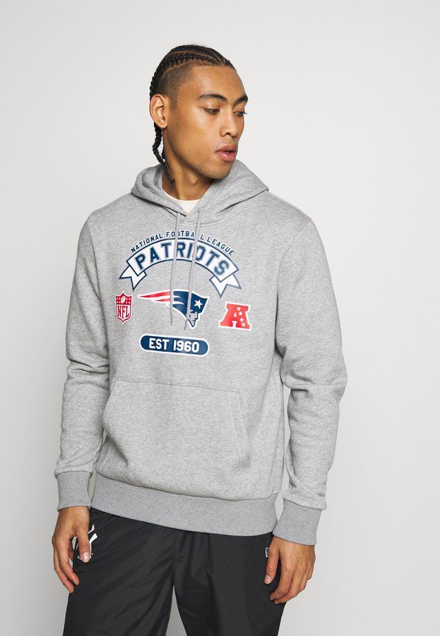 NFL GRAPHIC HOODY NEW ENGLAND PATRIOTS - Klubbkläder - grey