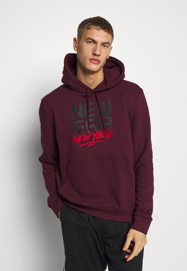 CONTEMPORARY GRAPHIC HOODY NEW ERA - Bluza z kapturem - red