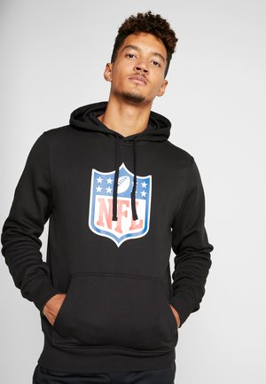 NFL SHIELD BACK TO BLACK HOODY - Hoodie - black