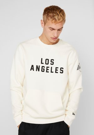 NBA WORDMARK CREW LOS ANGELES LAKERS - Article de supporter - off white
