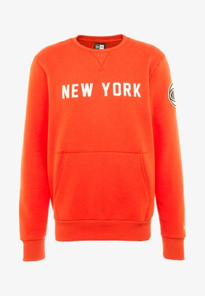 NBA WORDMARK CREW NEW YORK KNICKS - Fanartikel - rush orange
