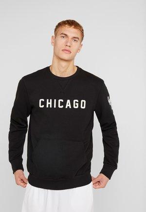 NBA WORDMARK CREW CHICAGO BULLS - Pelipaita - black