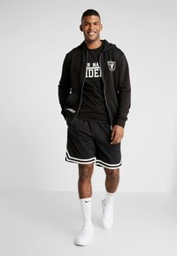 New Era - NFL TEAM LOGO FULL ZIP HOODY OAKLAND RAIDERS - Club wear - black - 1