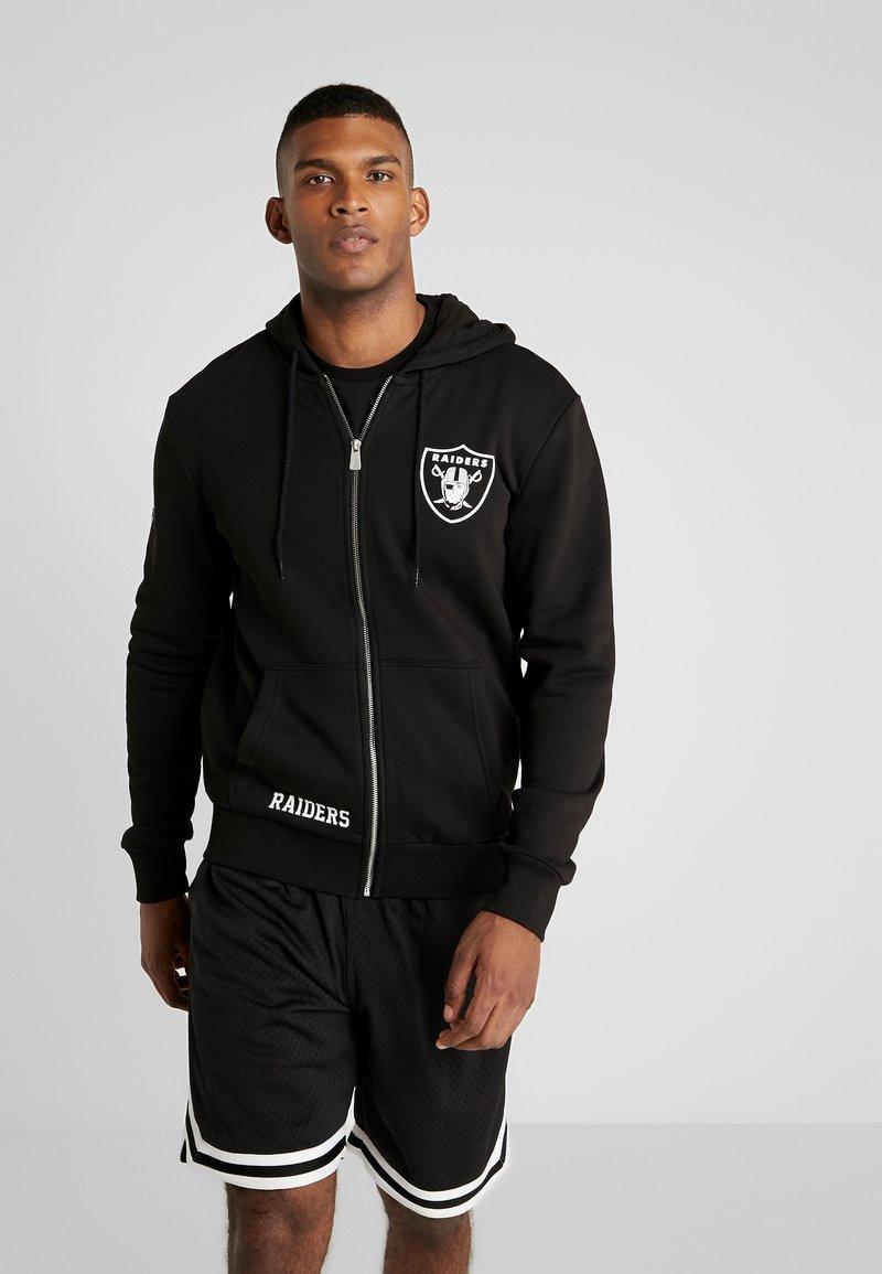 New Era - NFL TEAM LOGO FULL ZIP HOODY OAKLAND RAIDERS - Club wear - black