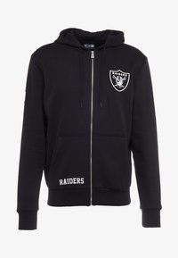 New Era - NFL TEAM LOGO FULL ZIP HOODY OAKLAND RAIDERS - Club wear - black - 5