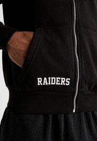 New Era - NFL TEAM LOGO FULL ZIP HOODY OAKLAND RAIDERS - Club wear - black - 6