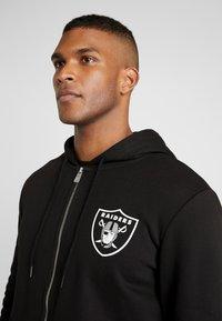 New Era - NFL TEAM LOGO FULL ZIP HOODY OAKLAND RAIDERS - Club wear - black - 4