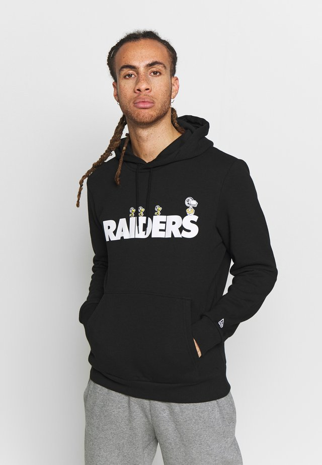 SNOOPY HOODY OAKLAND RAIDERS - Luvtröja - black