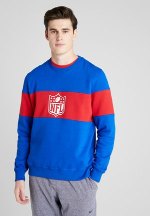 NFL PANNELLED CREW NECK - Article de supporter - dark blue