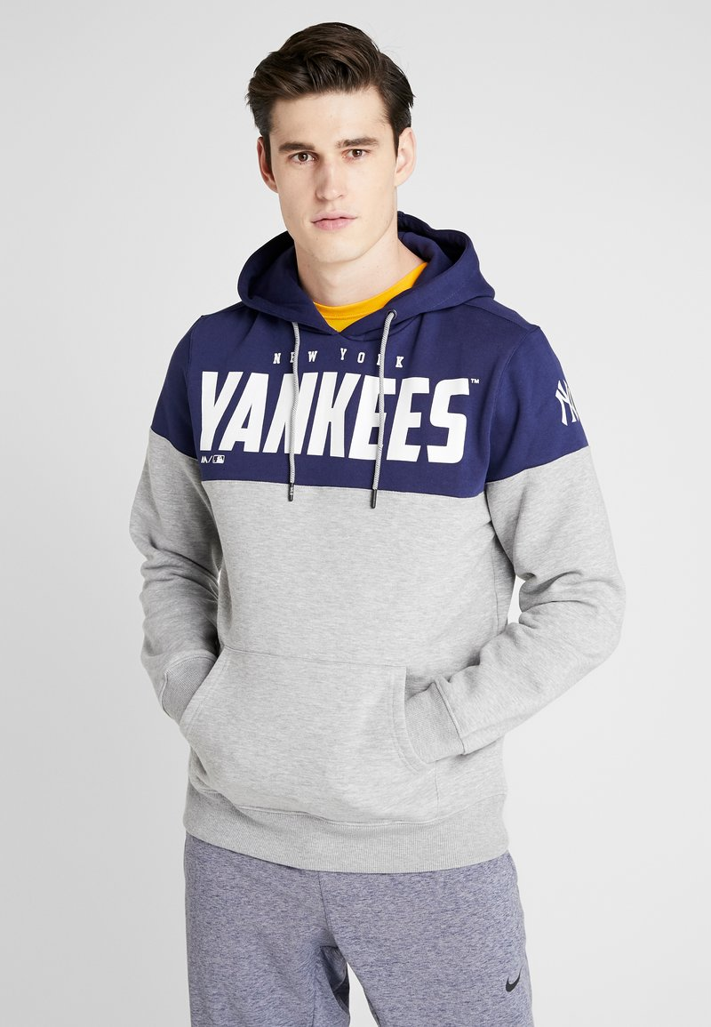 Fanatics - MLB NEW YORK YANKEES PANNELLED HOODIE - Article de supporter - dark blue