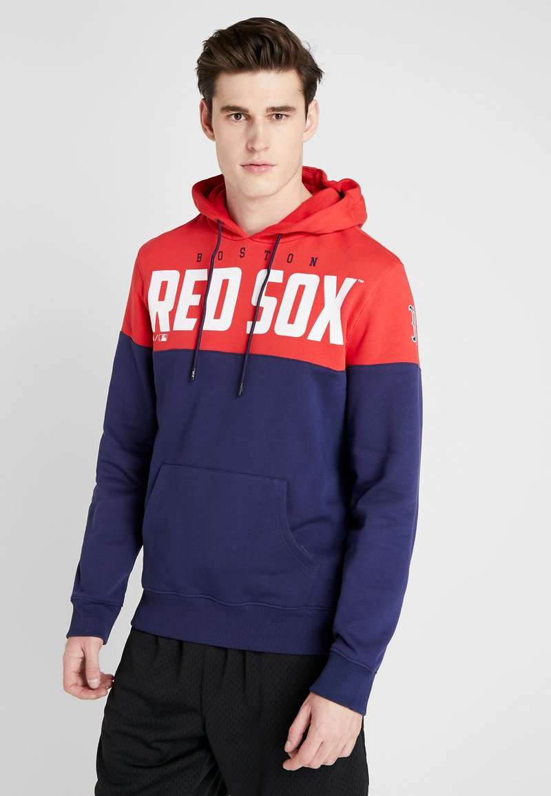 Fanatics - MLB BOSTON REDSOX PANNELLED HOODIE - Pelipaita - dark blue