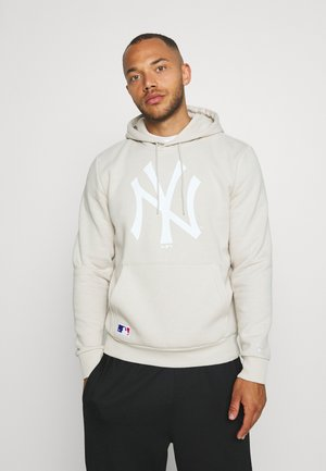 MLB SEASONAL TEAM LOGO HOODY NEW YORK YANKEES - Mikina s kapucí - light grey